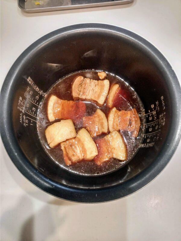 炊飯器ラフテー5