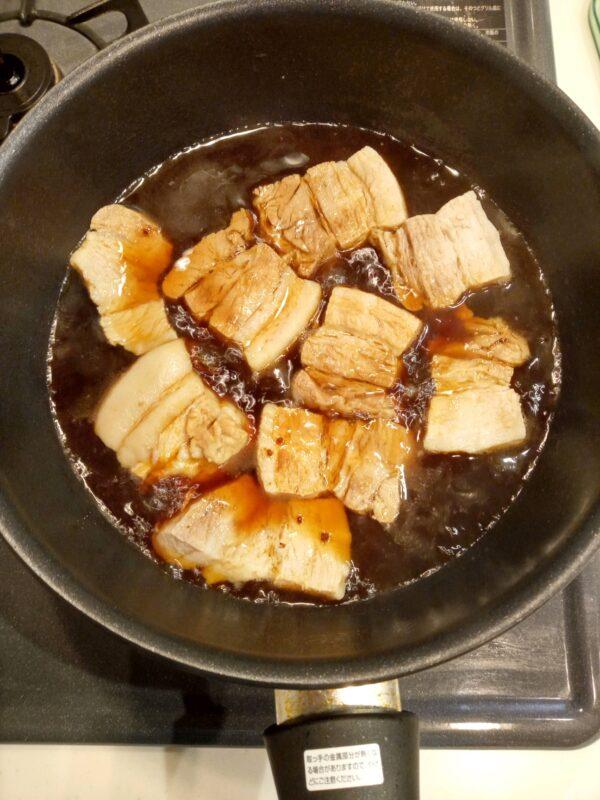 1時間冷まさず鍋で煮込4