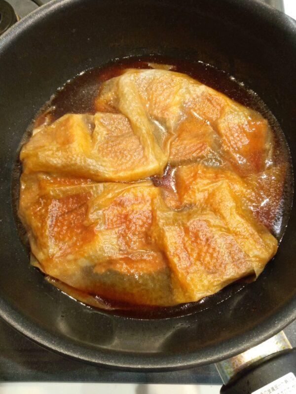 1時間冷まさず鍋で煮込む3